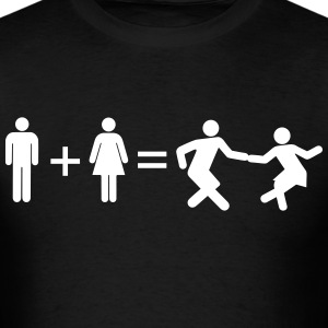 boy girl dancing T-Shirts - Men's T-Shirt