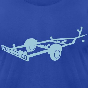 boat transport trailer_r1eps T-Shirts - Men's T-Shirt by American Apparel