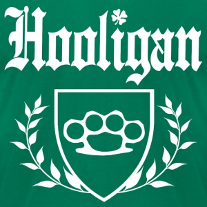IRISH HOOLIGAN - Brass Knuckle Crest - Men's T-Shirt by American Apparel