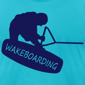wakeboarding T-Shirts - Men's T-Shirt by American Apparel