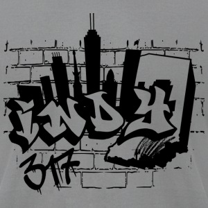 Indy Graffiti T-Shirts - Men's T-Shirt by American Apparel