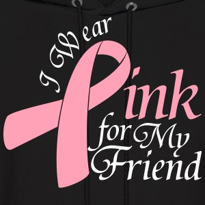 I Wear Pink For My Friend Hoodies - Men's Hoodie