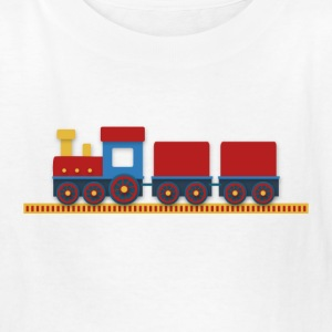 colorful train with cargo on railway Kids' Shirts - Kids' T-Shirt