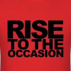 Rise to the Occasion Red and Black
