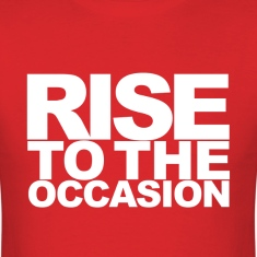 Rise to the Occasion Red and White