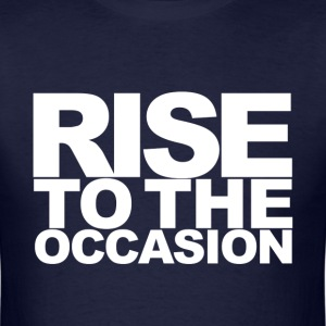 Rise to the Occasion Navy and White - Men's T-Shirt