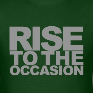 Rise to the Occasion Green and Silver - Men's T-Shirt