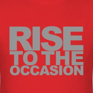 Rise to the Occasion Red and Silver - Men's T-Shirt