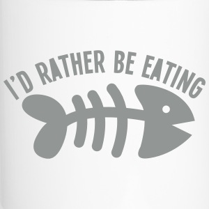 I'd rather be eating FIS (bones) funny cat design Bottles & Mugs - Travel Mug