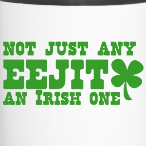 Not just any EEJIT! and IRISH one! ST PATRICKS DAY Bottles & Mugs - Travel Mug