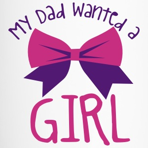 My dad wanted a girl and a bow cute! Bottles & Mugs - Travel Mug