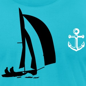 sailboat T-Shirts - Men's T-Shirt by American Apparel