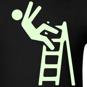 caution clip art 15 ladder _ T-Shirts - Men's T-Shirt
