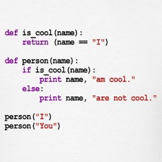 Python Code - I am cool, You are not cool T-Shirts