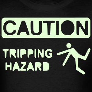 caution clip art 1 trip 2.1_ T-Shirts - Men's T-Shirt