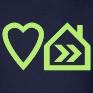 Design ~ Love Progressive House (Symbolic, L Green on Navy)