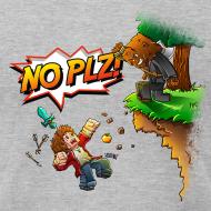Design ~ No Plz T-Shirt by American Apparel (M)