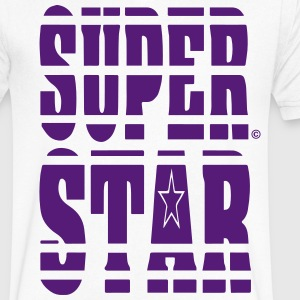 SUPER STAR T-Shirts - Men's V-Neck T-Shirt by Canvas
