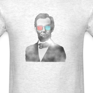 Abraham Lincoln 3d glasses  T-Shirts - Men's T-Shirt