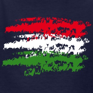 Hungary Flag Vintage Graffiti Support Country Kids' Shirts - Kids' T-Shirt