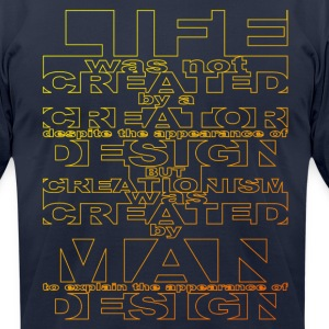 CREATIONISM was CREATED - Men's T-Shirt by American Apparel