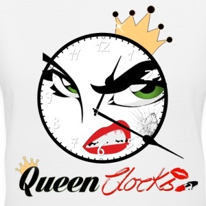 Queen Clocks - Women's V-Neck T-Shirt