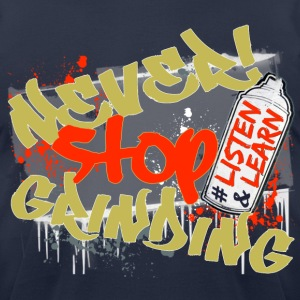 Navy Never Stop Grinding - Men's T-Shirt by American Apparel