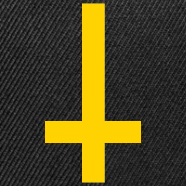 d047652865b Yellow Print Inverted Cross Snapback