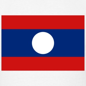 Laos Flag T-Shirt - Men's T-Shirt