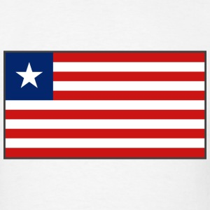 Liberia Flag T-Shirt - Men's T-Shirt