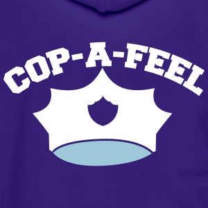 Funny police man hat COP-A-FEEL Zip Hoodies & Jackets - Unisex Fleece Zip Hoodie by American Apparel