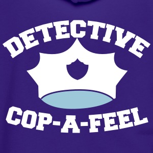 Funny DETECTIVE police man hat COP-A-FEEL Zip Hoodies & Jackets - Unisex Fleece Zip Hoodie by American Apparel