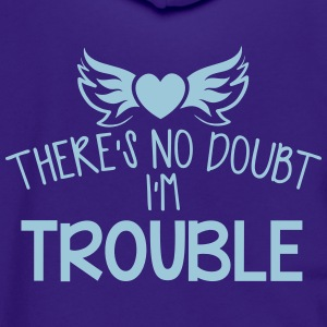 Theres  I'm TROUBLE girl with a bow Zip Hoodies & Jackets - Unisex Fleece Zip Hoodie by American Apparel