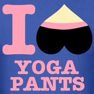 I Heart Yoga Pants! - Men's T-Shirt