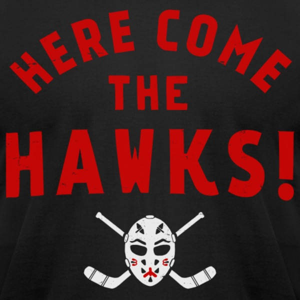 HERE COME THE HAWKS! - Men's T-Shirt by American Apparel