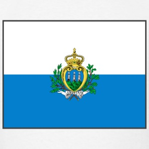 San Marino Flag T-Shirt - Men's T-Shirt
