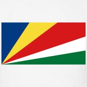 Seychelles Flag T-Shirt - Men's T-Shirt
