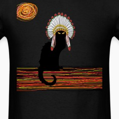 little Indian chief kitty cat  T-Shirts