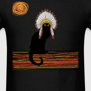 little Indian chief kitty cat  T-Shirts - Men's T-Shirt