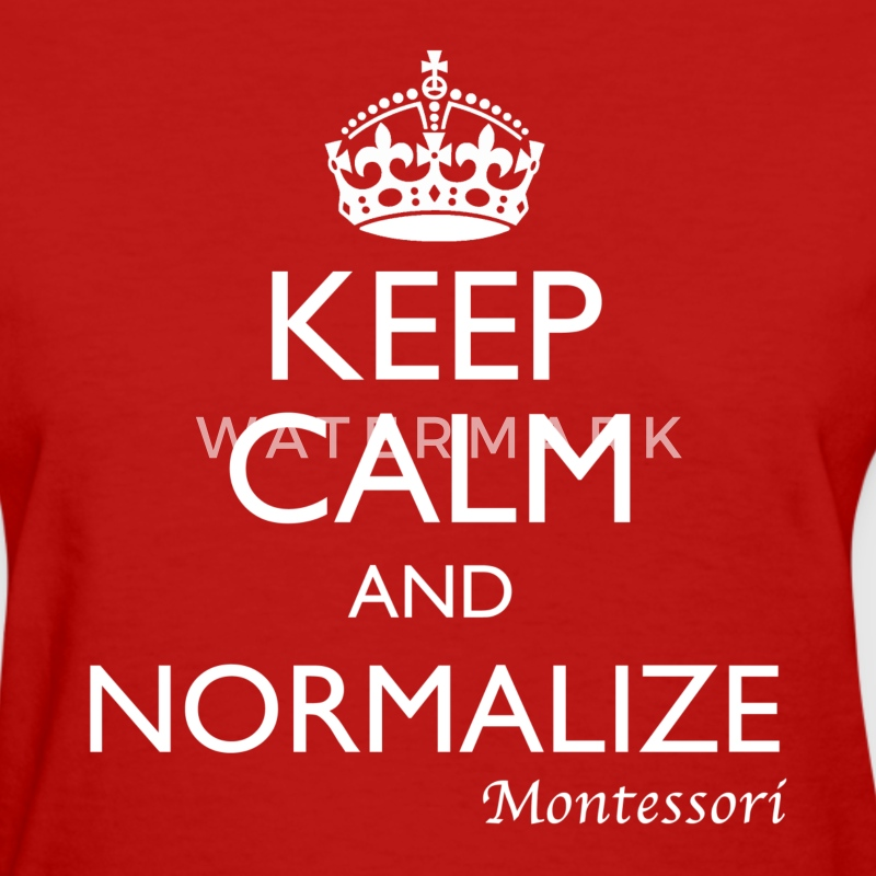 Keep Calm and Normalize - Montessori - Women's Tee - Women's T-Shirt