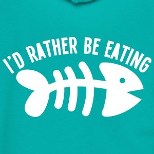 I'd rather be eating FIS (bones) funny cat design Zip Hoodies & Jackets - Unisex Fleece Zip Hoodie by American Apparel