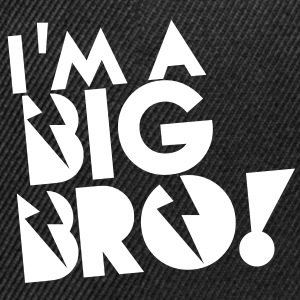 I'm a BIG BRO! brother in funky cool solid Caps - Snap-back Baseball Cap
