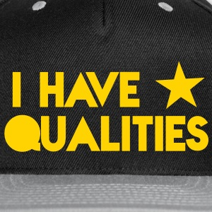 I HAVE STAR stars QUALITIES! in pink Caps - Snap-back Baseball Cap