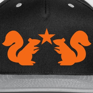 squirrels emblem cute with star rampant Caps - Snap-back Baseball Cap