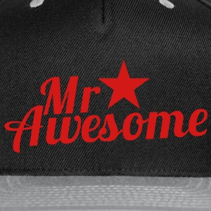 MR AWESOME with a sexy RED star Caps - Snap-back Baseball Cap