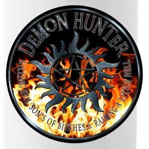 Demon hunter protection Symbal Ring Patch Flames 5 Bottles & Mugs - Water Bottle