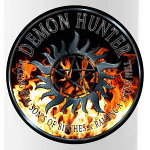 Demon hunter protection Symbal Ring Patch Flames 6 Bottles & Mugs - Water Bottle