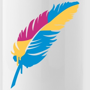 A colorful feather Bottles & Mugs - Water Bottle