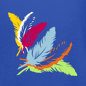Three colorful feathers Tanks - Women's Flowy Tank Top by Bella