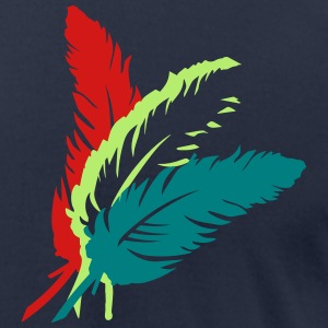 Three colorful feathers T-Shirts - Men's T-Shirt by American Apparel